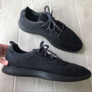 Allbirds Men's wool runners in Natural black